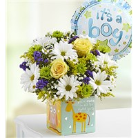 Playtime-for-Baby-Boy-Bouquet-with-a-balloon-in-a-Play-Box-container